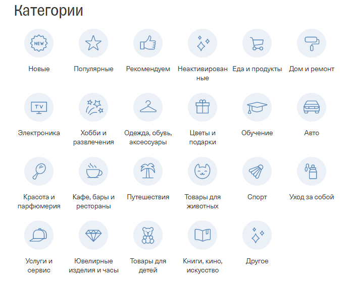 Категории кэшбэка Тинькофф
